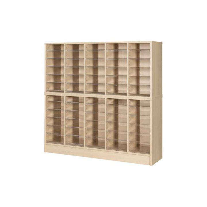 Wooden Pigeonhole Unit with 60 Spaces 1320H x 1362W x 375D