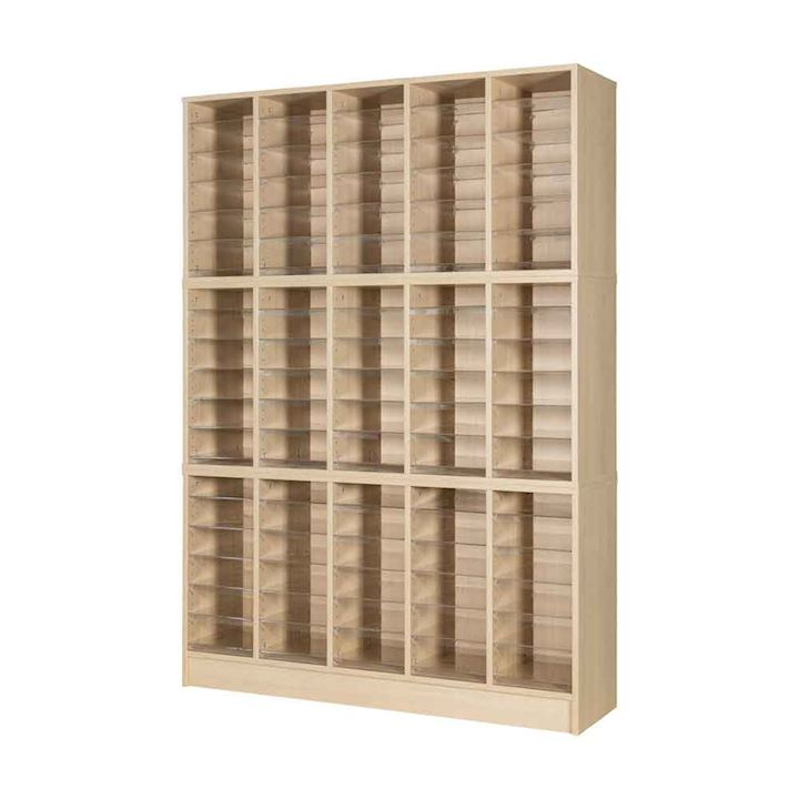 Wooden Pigeonhole Unit with 90 Spaces 1930H x 1362W x 375D