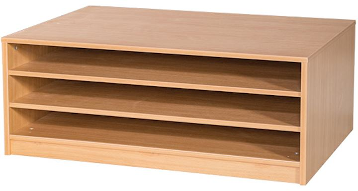 A1 Paper Storage Unit with 3 Shelves 466H x 1010W x 705D