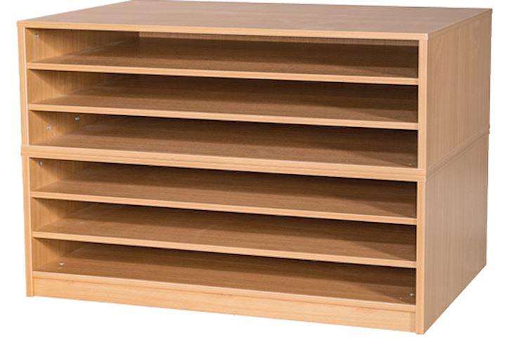 A1 Paper Storage Unit with 6 Shelves 867H x 1010W x 705D