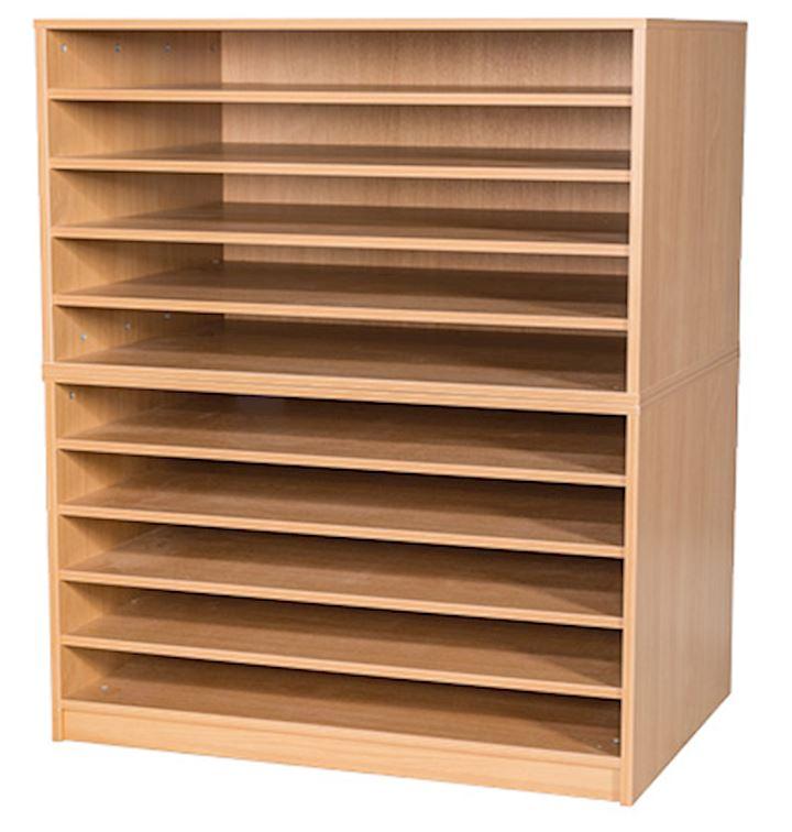 A1 Paper Storage Unit with 10 Shelves 1347H x 1010W x 705D