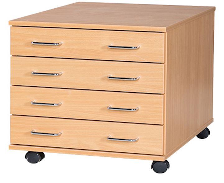 4 Drawer A2 Plan Storage Chest 586H x 542W x 705D