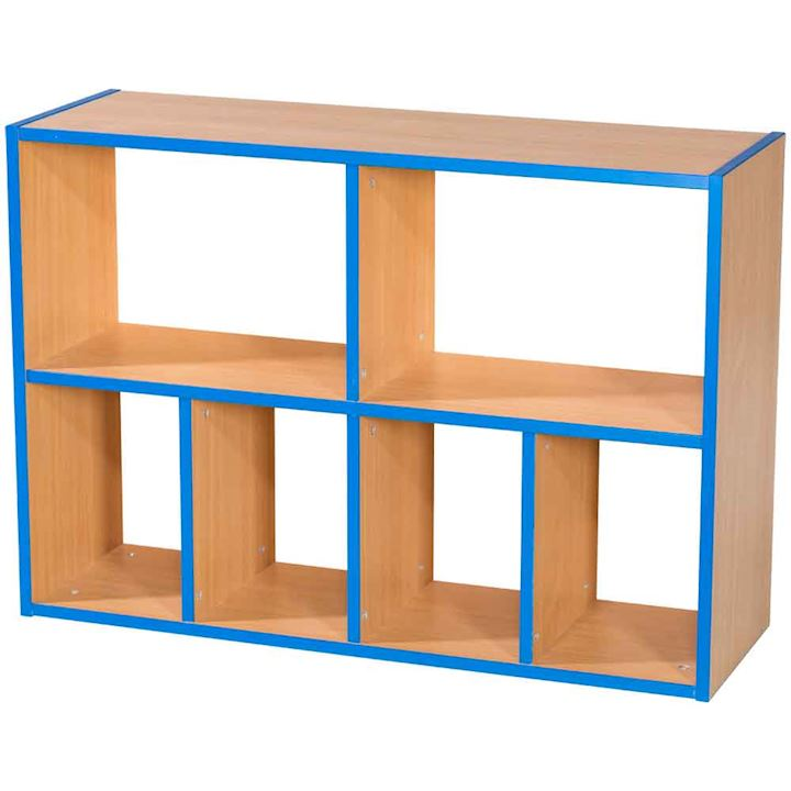 Two Tier 2 + 4 School Cubbyhole Shelf Unit 700H x 1000W x 300D