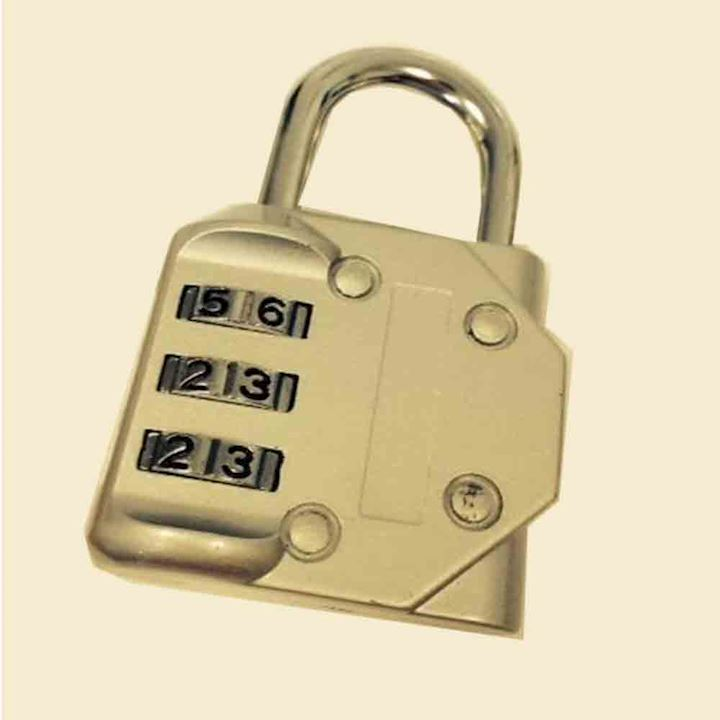 3 scroll 40mm Combination Padlock