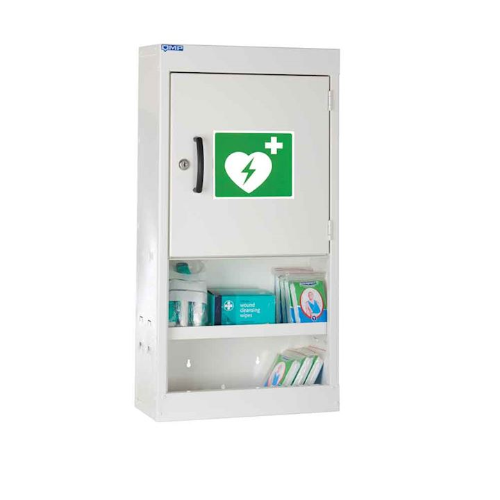 Defibrillator Cabinet 710H With Open Shelves