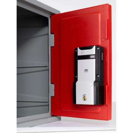 Extreme plastic lockers coin retain lock