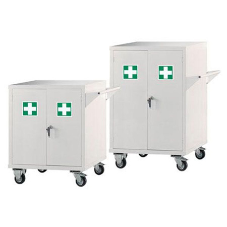 First Aid Mobile Cupboard Small 840 x 900 x 460