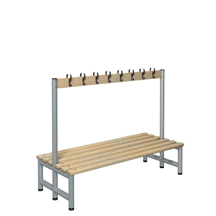 Round Tube Double Sided Hook Bench 1150mm H
