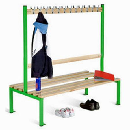 School Cloakroom Double Sided Island Seat 1370H