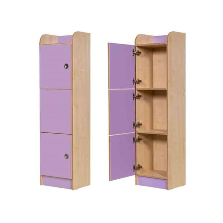 Rainbow Laminate 1500mm High 3 Door Locker