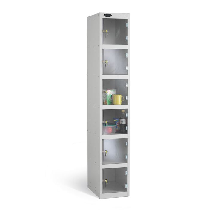 Full Clear Six Door Locker 1780H