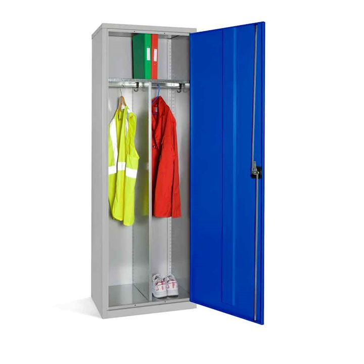 Wide Clothing Locker with Central Divider 1830H x 610W x 457D By Elite