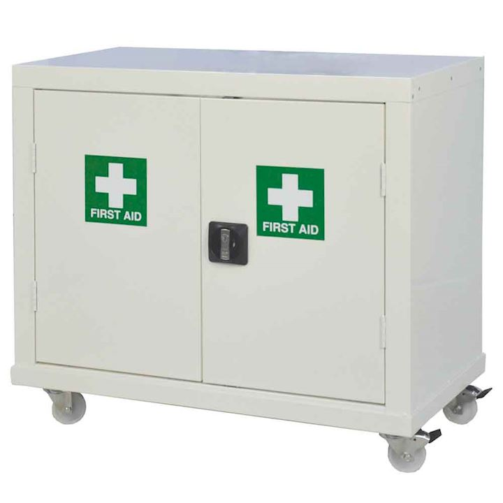 Small First Aid Mobile Cupboard 840 x 900 x 460