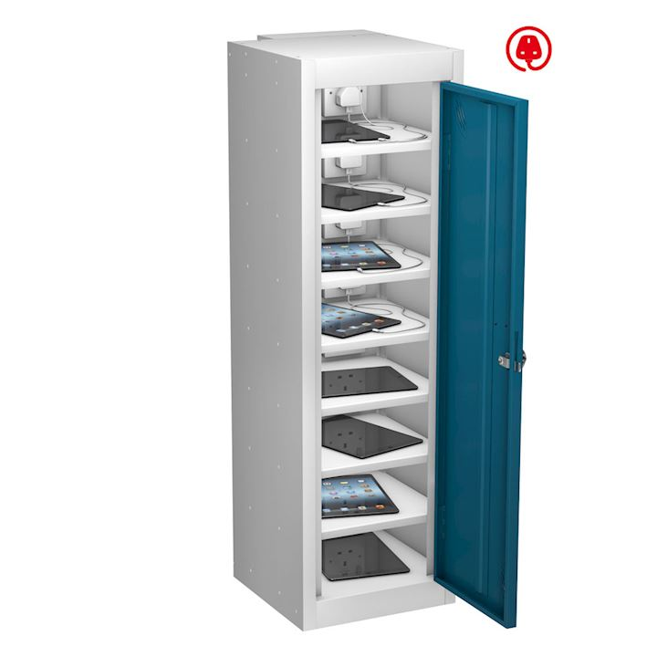 Tab Box Single Door, 8 Comp Tablet Locker 1000mm