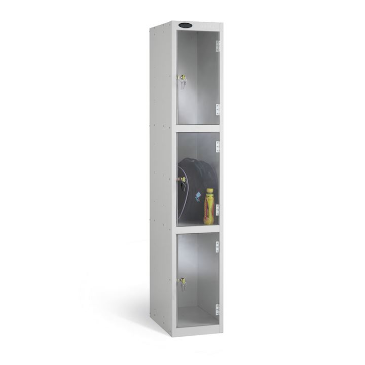 Full Clear Three Door Locker 1780H