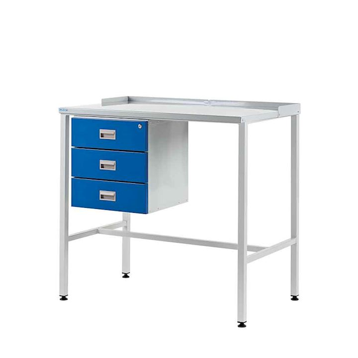 Team Leader Workdesk with Flat Top + Triple Drawer - 920H