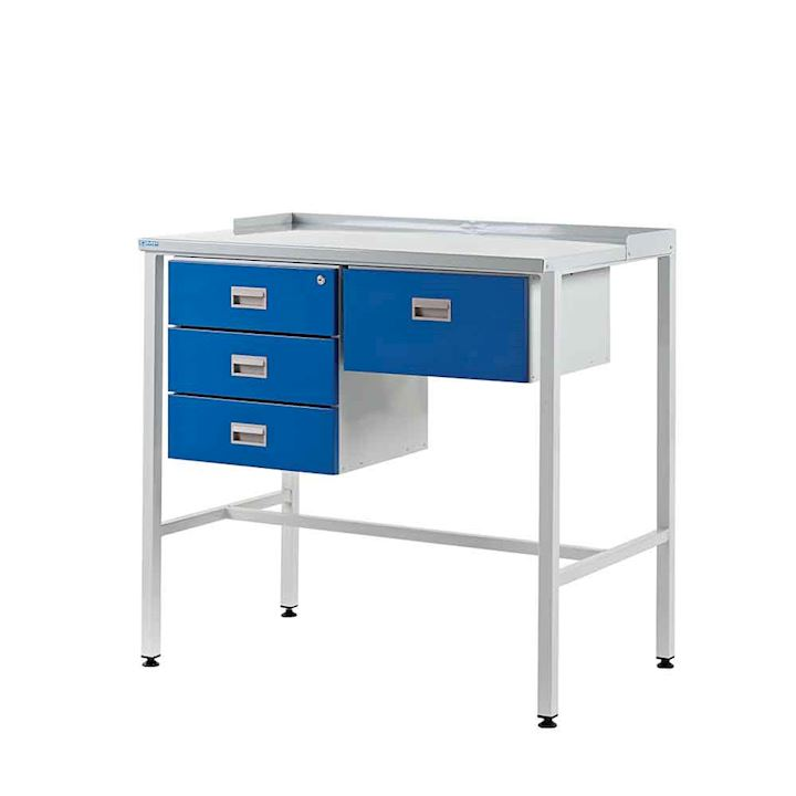 Supervisor Workdesk with Flat Top, Triple Drawer + Single Drawer - 920H