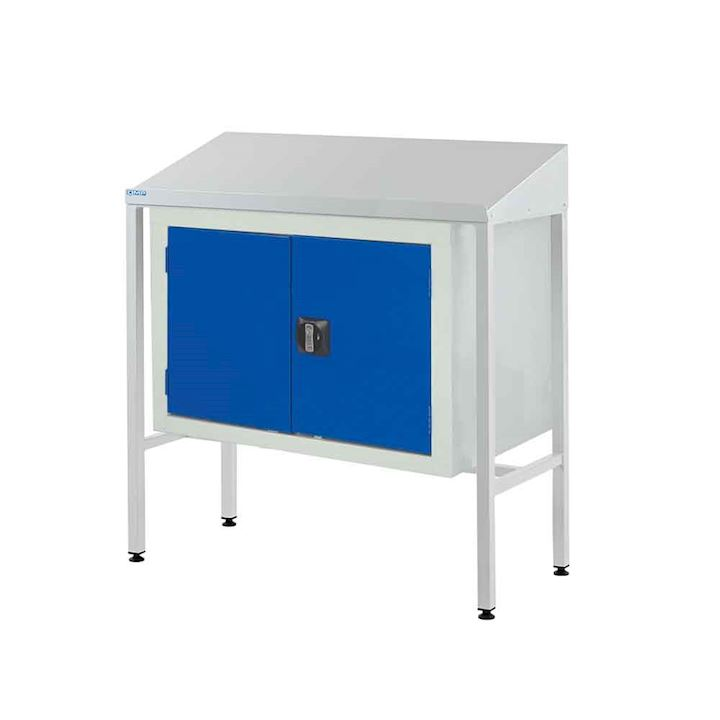 Information Team Leader Station + Double Cupboard - Sloping top 1060H