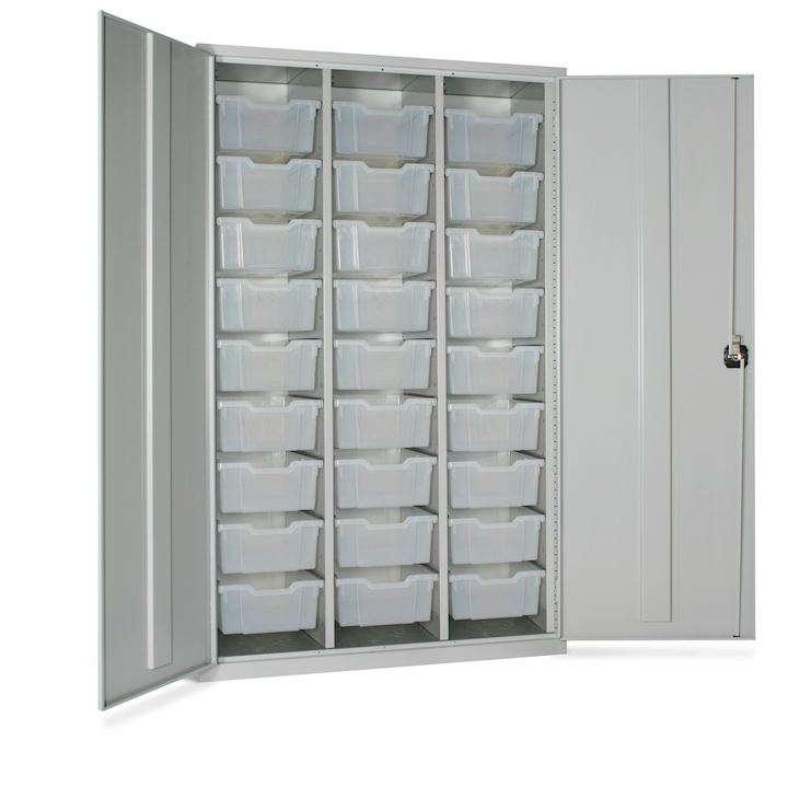High Capacity Storage Cupboard with 27 Trays