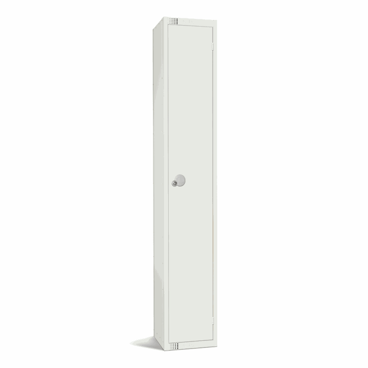 Elite All White 1 Door Locker 1800H
