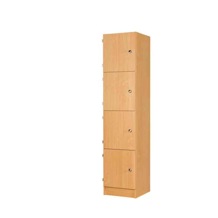 Four Door MDF Laminate Wooden Locker 1800H