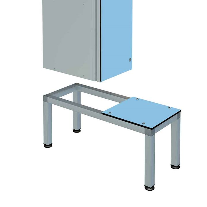 Aluminium Seat/Stands for Zenbox Lockers